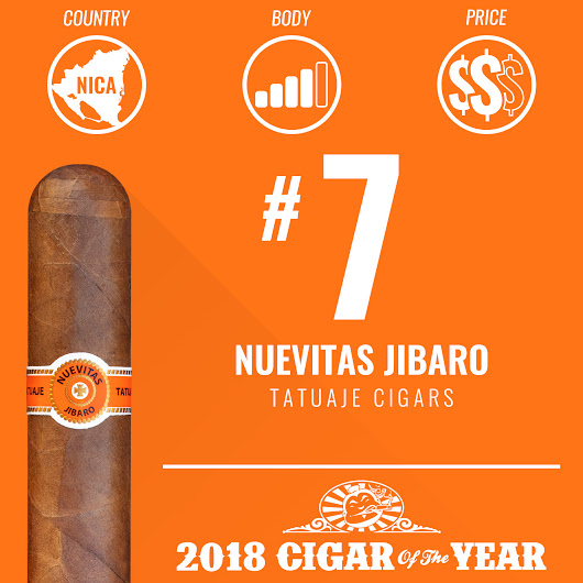 No. 7 Cigar of the Year 2018 - Nuevitas Jibaro - Cigar Dojo