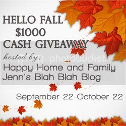 Hello Fall $1000 Cash Giveaway