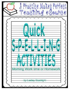QuickSpellingActivitiesforMorningWorkorHomework_1