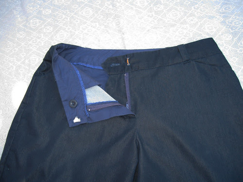Denim shorts zipper fly