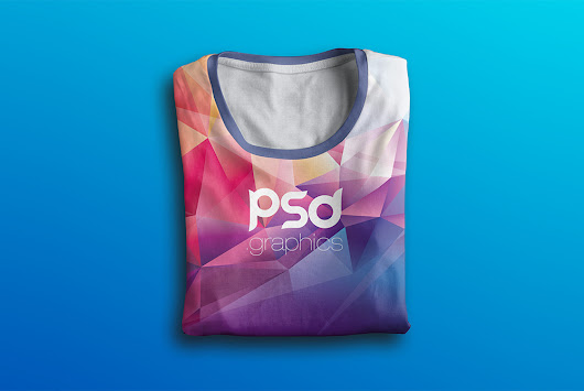 Folded T-Shirt Mockup Free PSD | PSD Graphics