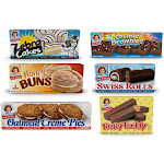 Little Debbie Bundle Pack Nutty Buddy, Oatmeal Creme Pies, Swiss Rolls, Zebra Cakes, Cosmic Brownies, and Honey Buns 1 Box of each - PACK OF 4