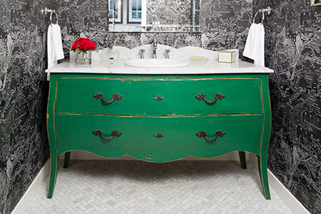 How to Turn a Dresser into a Bath Vanity
