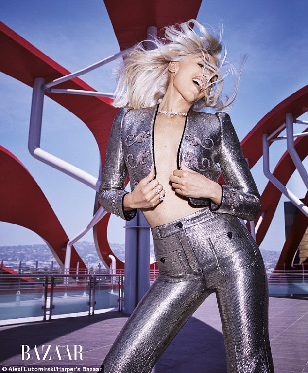 Shining star: Gwen Stefani looks smoking hot in the new issue of Harper's Bazaar magazine, in which she gave a candid interview about her split from Gavin Rossdale