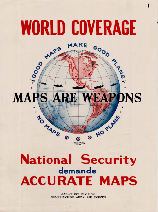 "1942 U.S. Army "" Maps Are Weapons "" poster"