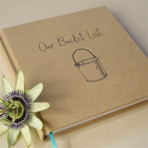 Our Bucket List. · Paper Anniversary Journal · Wedding