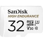 SanDisk High Endurance MicroSDHC 32 GB Memory Card with MicroSDXC to SD Adapter - UHS-I U1/Class 10