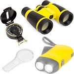 Best Choice Products Junior Explorer Set w/ Binoculars, Flashlight, Compass, Magnifying Glass (Yellow)