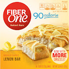 Fiber One 90 Calorie Bar, Lemon - 6 pack, 5.34 oz box