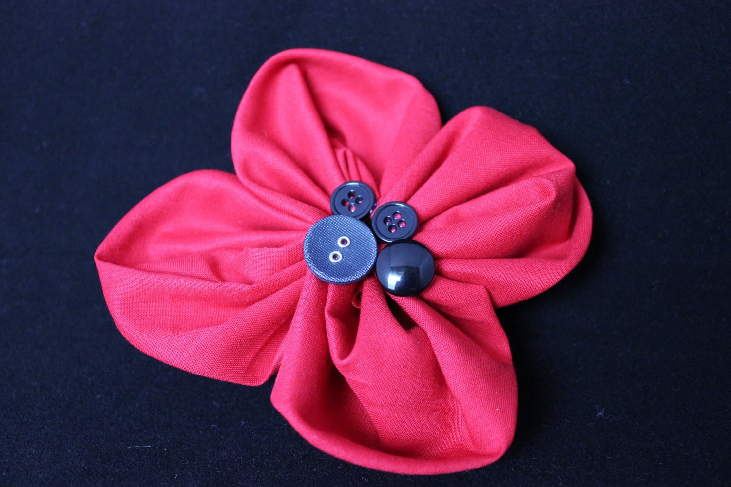 Red & Black One of a Kind Barrette