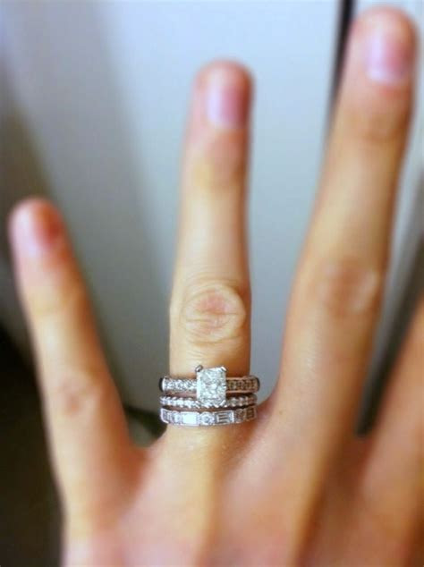 Beautiful ring stack! (Wedding ring & engagement ring