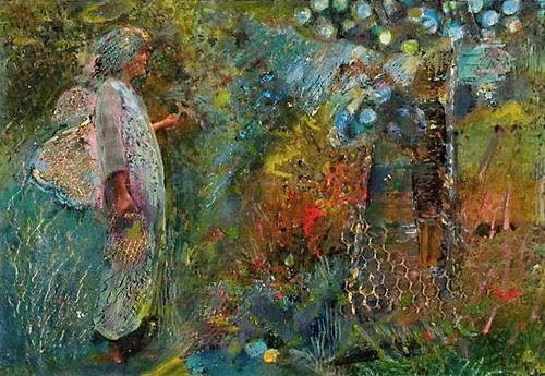 Linda & apple tree