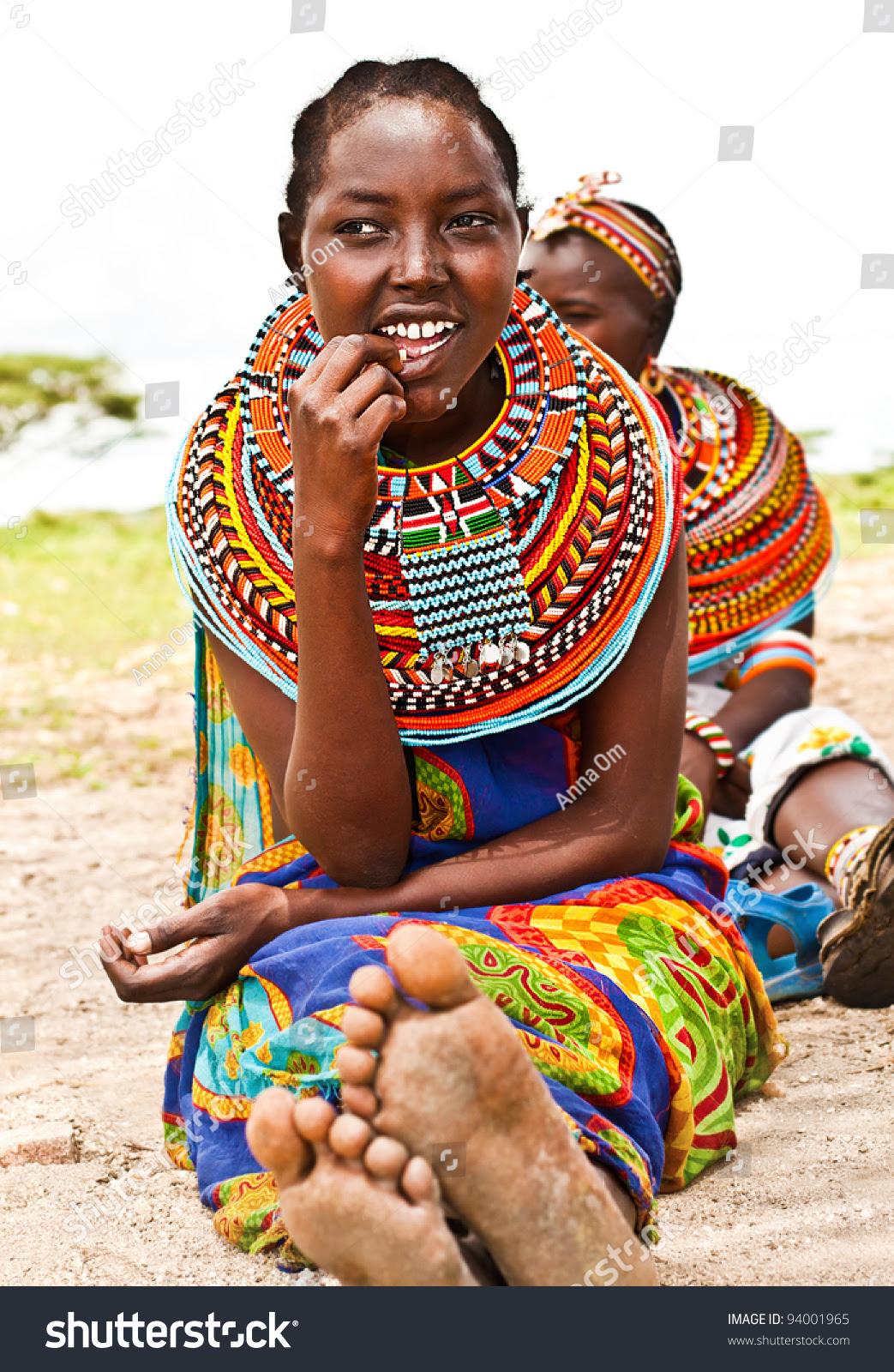 Africakenya Samburu November 8 Portrait Samburu Stock