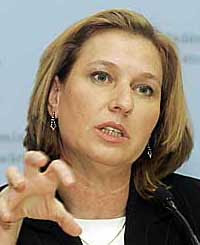 Israel's former foreign minister Tzipi The Claw Livni