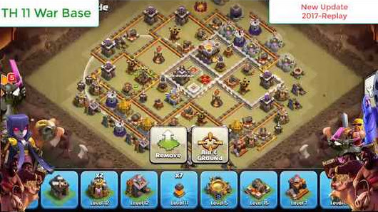 Th  War Base  Clash Of Clans Anti  Star With Replay New Update