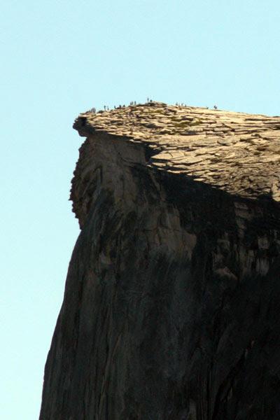 People on Half Dome
