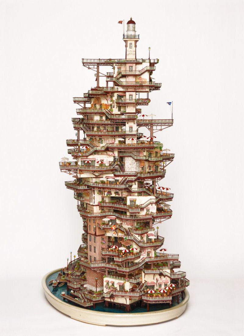 As intrincadas esculturas em miniatura de Takanori Aiba 09