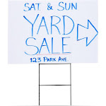 6-Pack Blank Corrugated Plastic Yard Lawn Signs With Stakes, 12 X 17 Inches