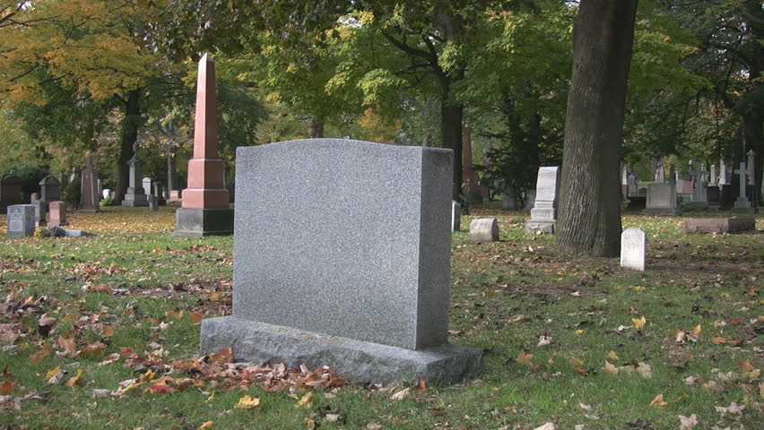 Blank Gravestone With Copy Space. Stock Footage Video 268384 ...