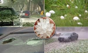 Video shows baseball sized hail cause $500 million worth