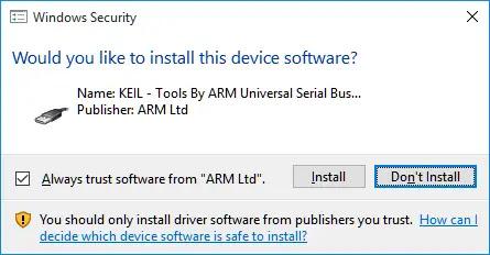 Windows Security - Driver Installation Notification