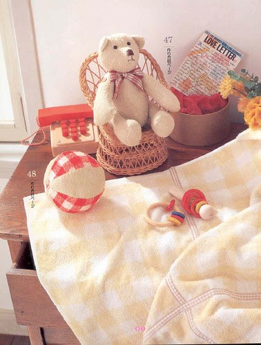 Toys and quilt from towels