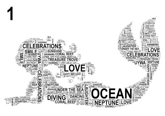 Mermaid Personalised Word Art Print.  FREE UK P&P.