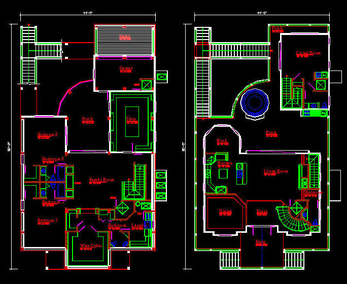 Autocad House Drawing at GetDrawings Free download