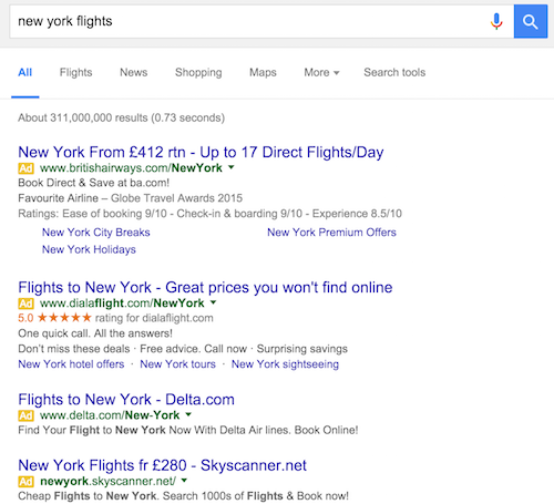 Four ways to adjust your SEO strategy for four-pack paid search ads
