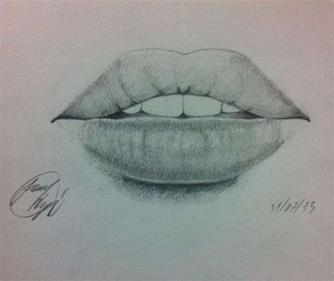 lips mouth drawing realistic pencil  drawings