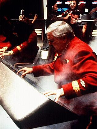 """You cannae break the laws of physics ... Actor James Doohan as """"Scotty"""" scene from film """""""