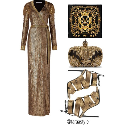 Black & Gold Party Wear 2016