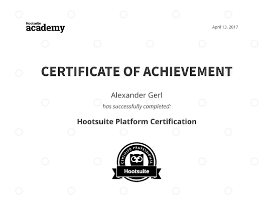 Credential for Hootsuite Platform Certification