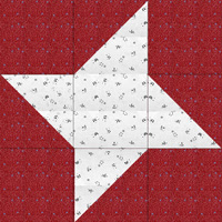 Swap-bot swap: Friendship Star Quilt Block -Int'l & beginners