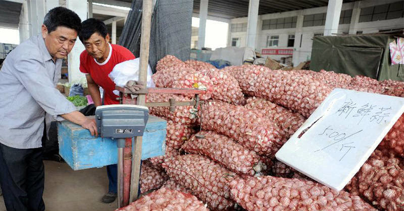 5 - Garlic. China is responsible for importing 31 percent of the garlic consumed in the United States last year. Unfortunately, garlic is sprayed with pesticides containing methyl bromide. This compound is also used in killing rodents.