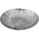 IMAX Ethereal Plated Tree Bowl, Silver