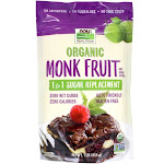 NOW Foods NOW Real Food Organic Monk Fruit 1 to 1 Sugar Replacement Powder 1 lb.