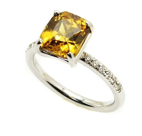 Resultado de imagen para yellow zircon rings