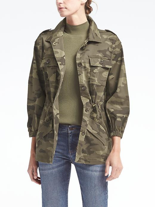 Banana Republic Blouson-Sleeve Utility Jacket