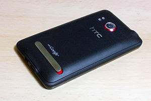 English: HTC Evo WiMAX(Evo 4G) ISW11HT Back