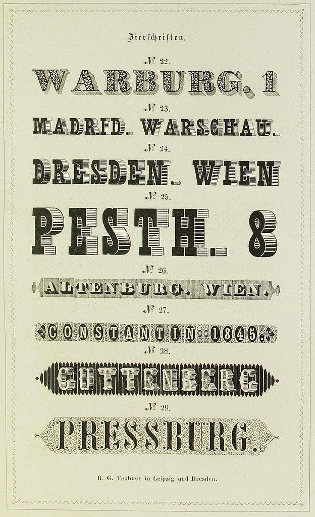 Schrift- und Polytypen-Proben BG Teubner, 1846