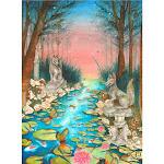 Inari Garden by Rachel Walker Painting Paper Unframed Art Print - 22.75x30.95 in