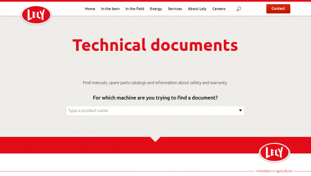 » The new Lely TechDocs is live!