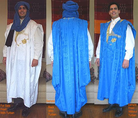 white saharan gandora mens clothing  morocco