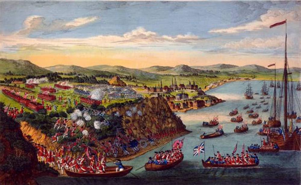 Image result for ,CAPTURING QUEBEC FRENCH COLONY {Battle of Quebec: September 13, 1759. On September 13, 1759, the British under General James Wolfe