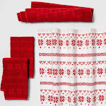 Fair Isle Bundle Red - Threshold