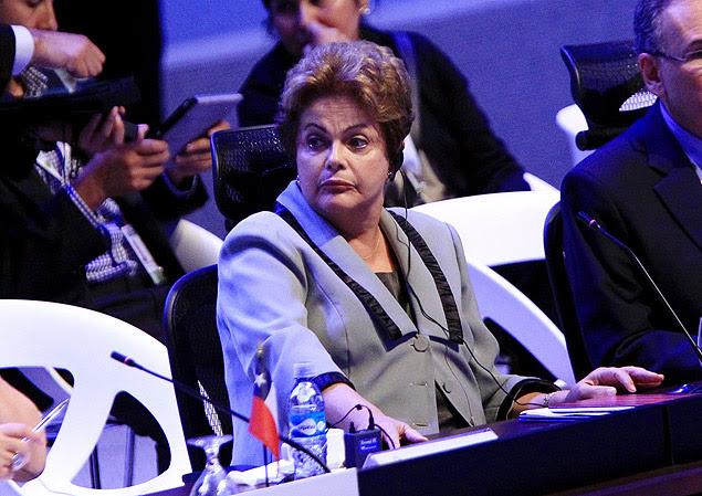 A presidente Dilma Rousseff na Costa Rica