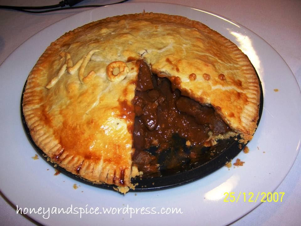 Succulent British Steak & Gravy Pie | Honey and Spice