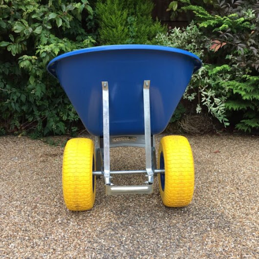 160 Litre Blue Wheelbarrow – Twin Fatboy Wheels