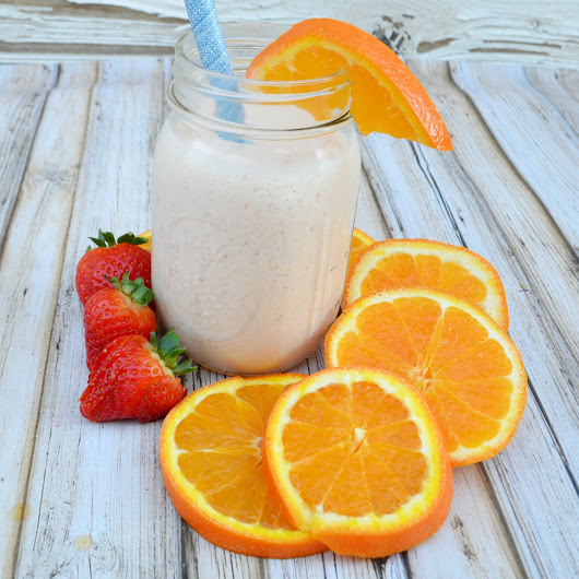 Orange Cremsicle Protein Smoothie
